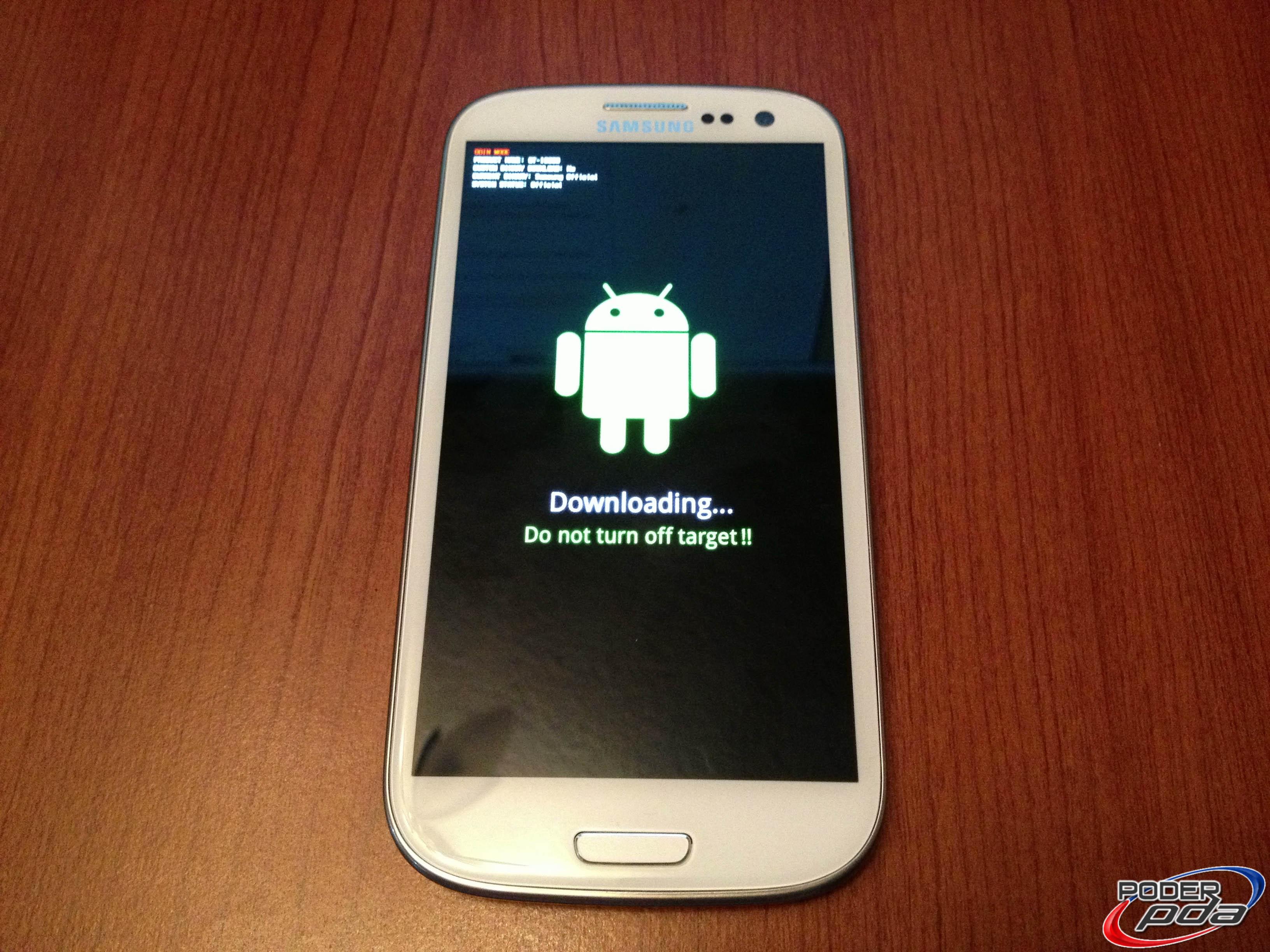 Samsung Galaxy S3 Pantalla Download Mode
