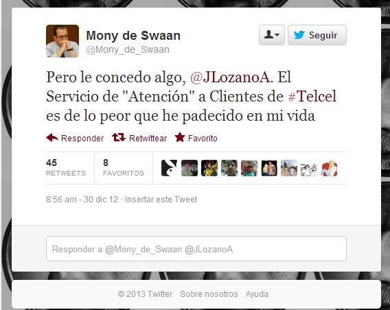 Twitter   Mony_de_Swaan  Pero le concedo algo   JLozanoA. ...