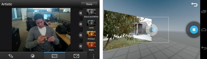 blackberry 10 vs android camera