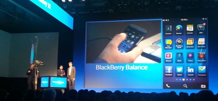 blackberry balance vs android