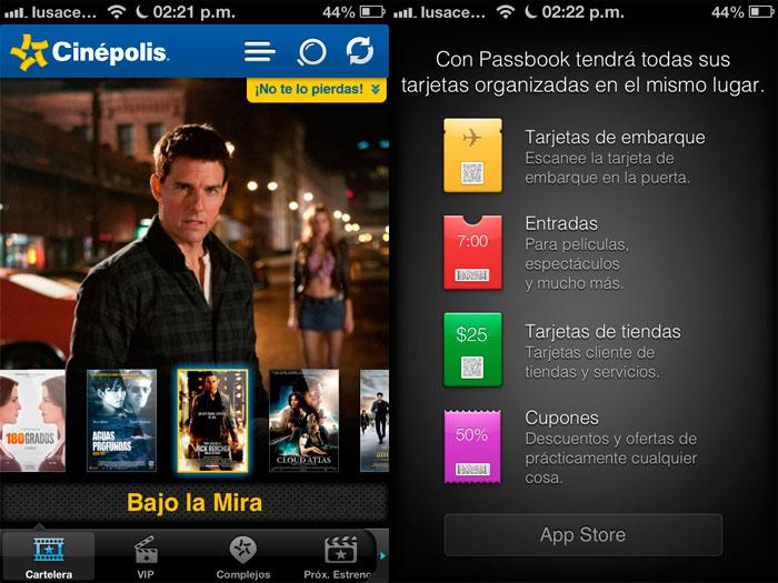 App de Cinépolis para iOS ahora se integra con Passbook