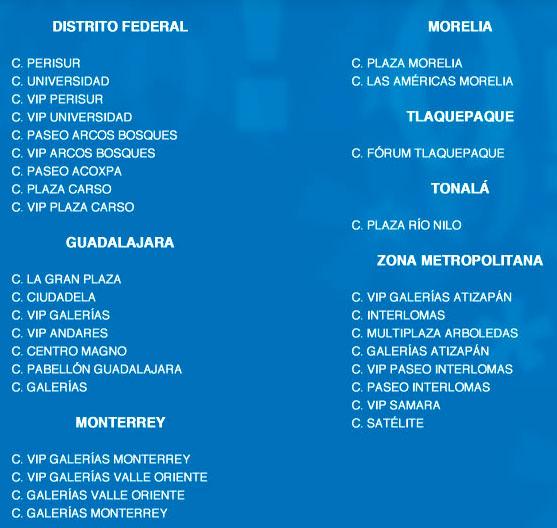 Lista de complejos Cinépolis que aceptan boletos Passbook iOS