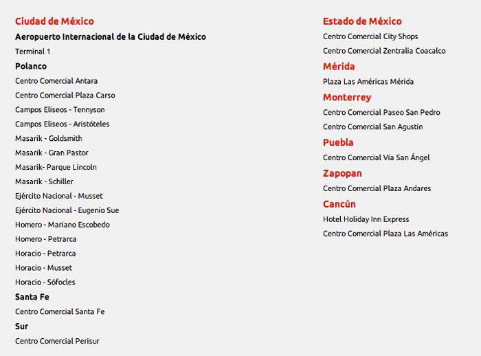 Lista de Cobertura Hotspots WiFi Iusacell 4U Enero 2013