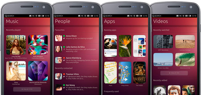 Screenshots Ubuntu Phone