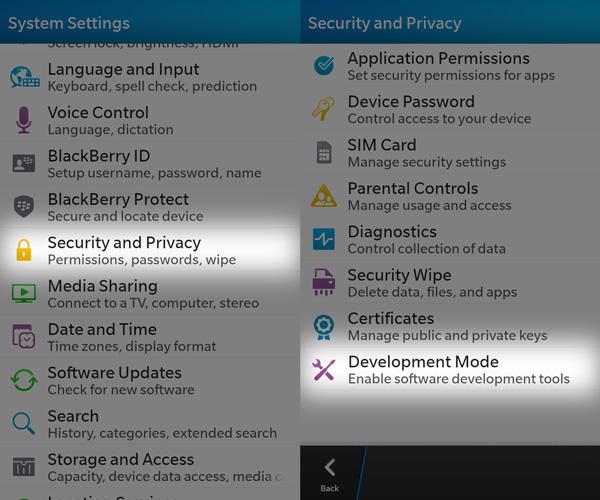Cargar aplicaciones Android a BlackBerry 10_2