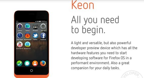 Geeksphone Smartphone Firefox OS Keon