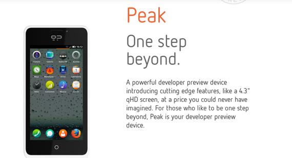 Geeksphone Smartphone Firefox OS Peak