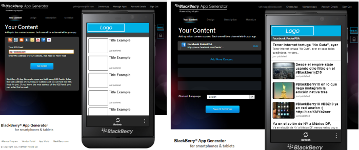 blackberry app generator bb10 os 1