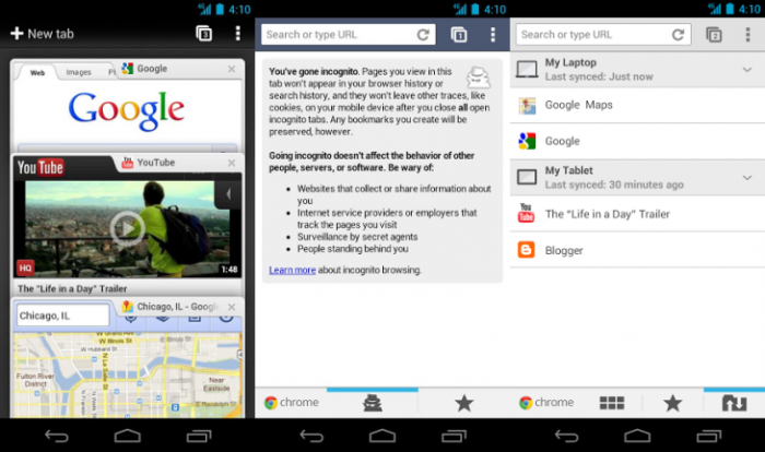 chrome 25 para android