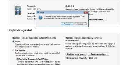 iOS 6.1.2 actualización