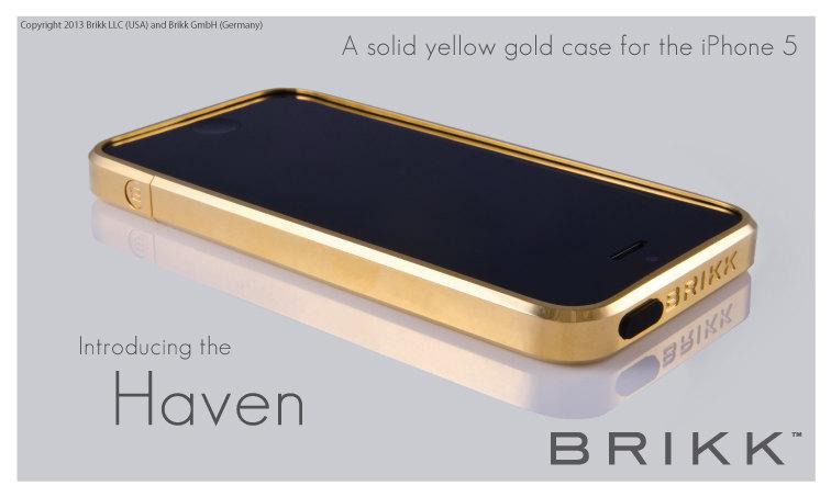 iphone 5 bumper brikk oro dorado