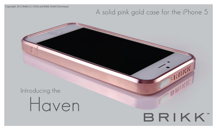 iphone 5 bumper brikk oro rosado