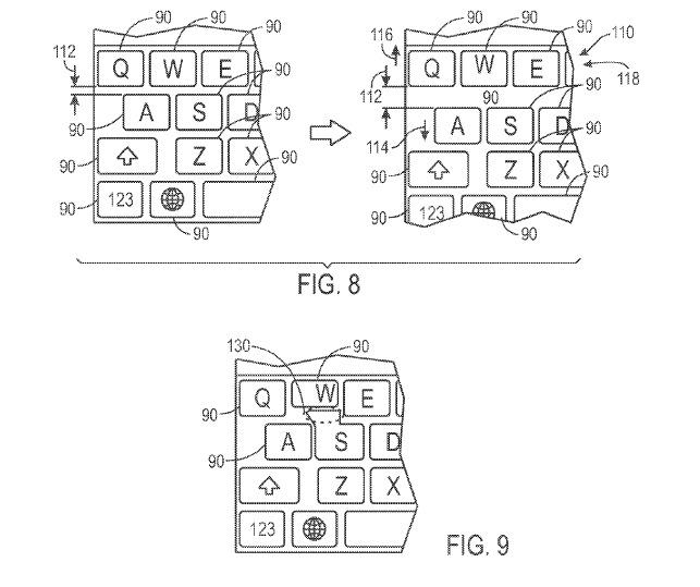 patente de teclado Apple