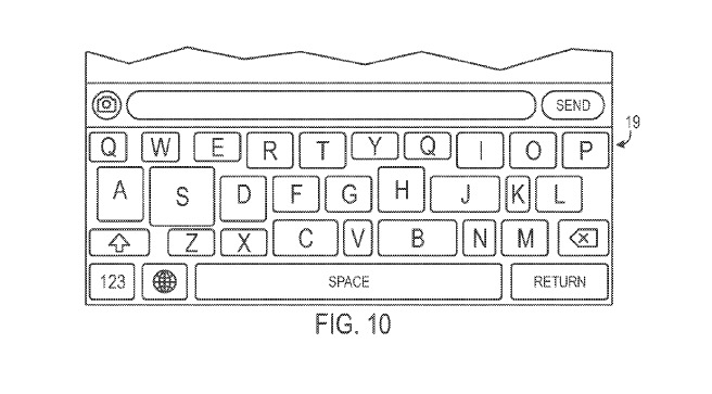 patente de teclado de Apple