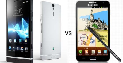 Xperia S y Galaxy Note