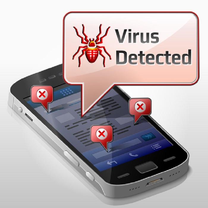 smarttphone con virus