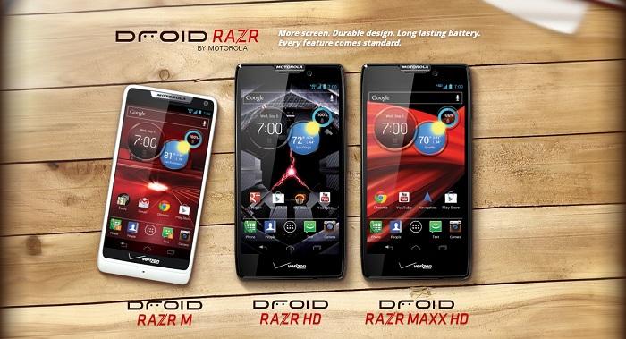 Droid Razr M, Razr HD y Razr Maxx HD recibirán KitKat antes de terminar Abril
