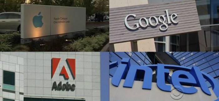 apple intel google adobe demandados