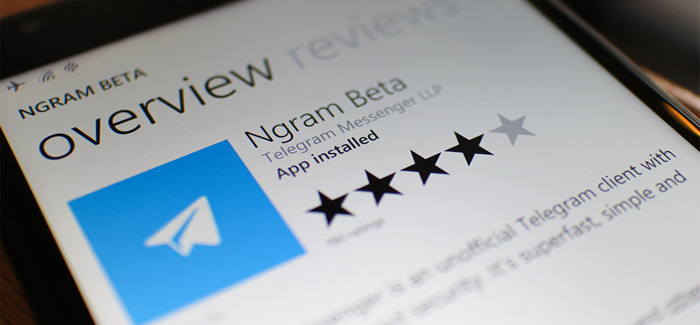 La aplicación Ngram Beta se localiza habilitada en Windows Phone Store.