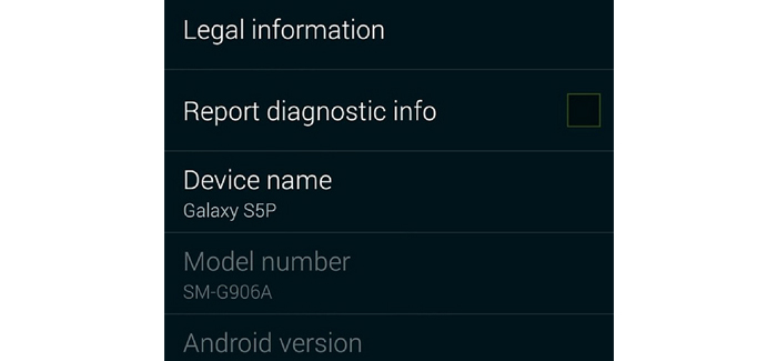 Captura de pantalla publicada en el sitio web(www) de Samsung