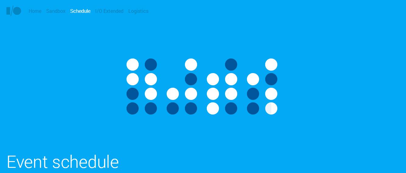 Google-IO-schedule