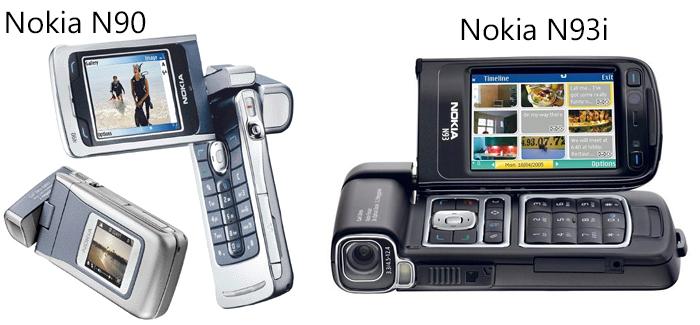 Nokia N90, N93 y N93i usan el metodo operativo Symbian® 8.1 Serie 60 (2a edición)