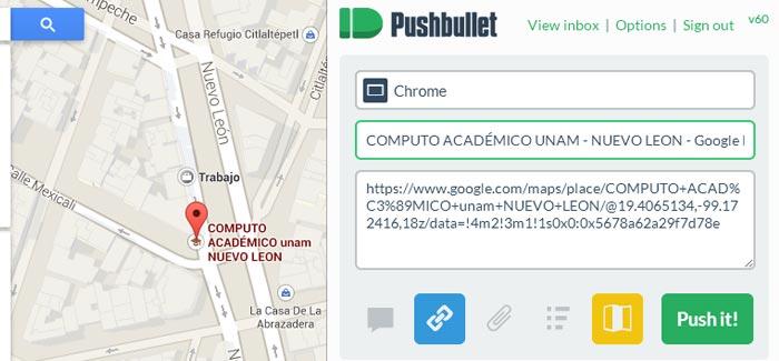 PushBullet-Mapa-direcciones