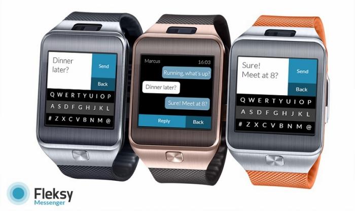 Fleksy Messenger, un teclado para escribir en el Samsung® Gear 2