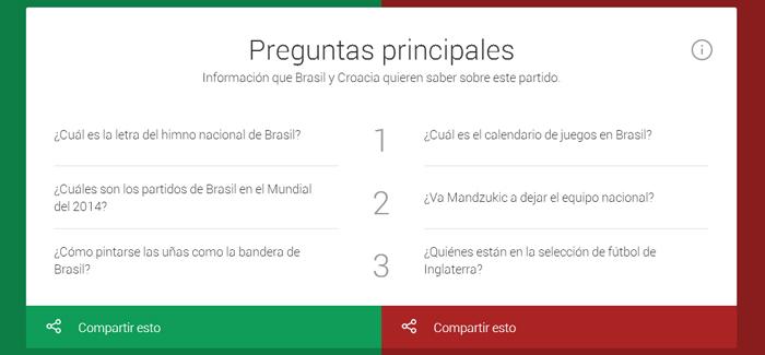 Informacion Brasil vs Croacia
