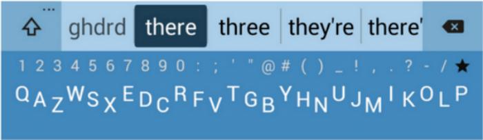 Minuum Keyboard - iOS® Azul