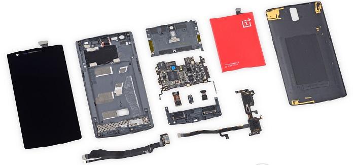 El OnePlus One es desmontado y al parecer no es sencillo de reparar