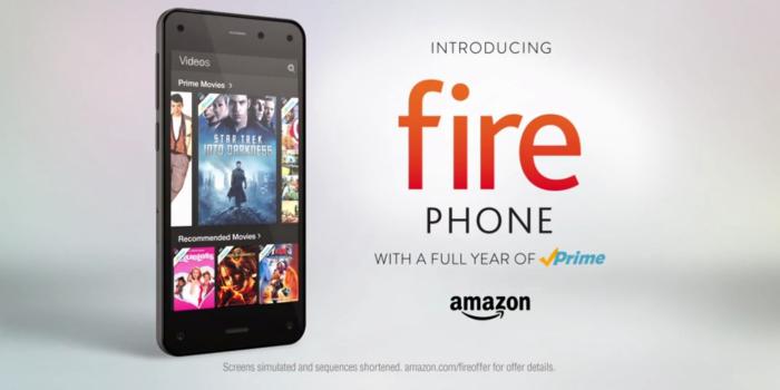 Amazon presenta, en un creativo comercial,a su Fire Phone.