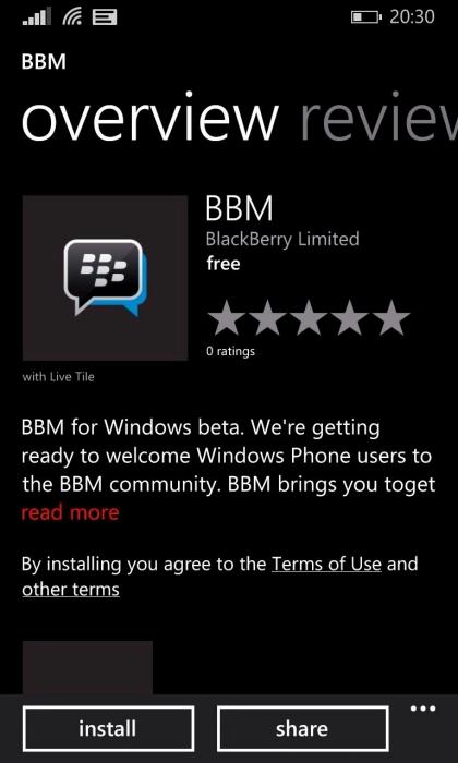 La beta privada de BBM para Windows Phone ya esta disponbile, sin embargo solo en E.U.A.