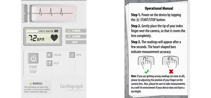 Cardiograph app
