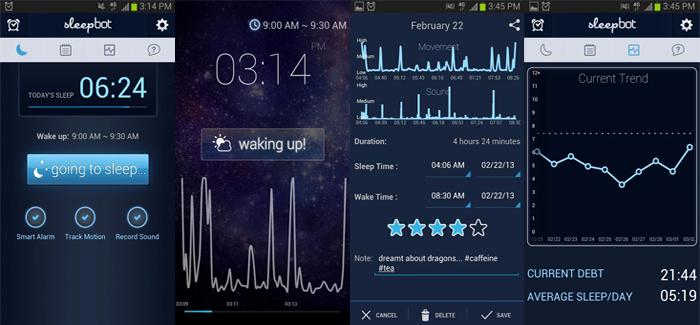 Sleepbot app