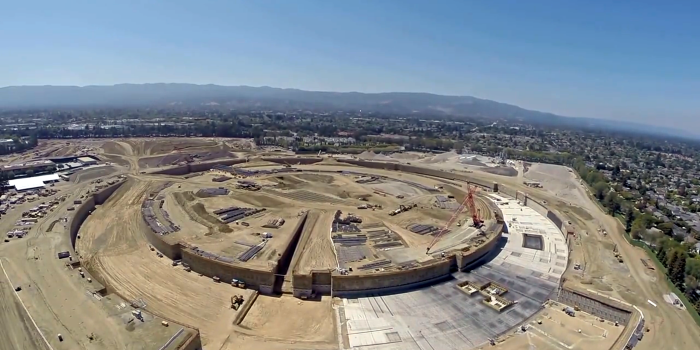 Se muestra en video el avance del Campus 2 de Apple.
