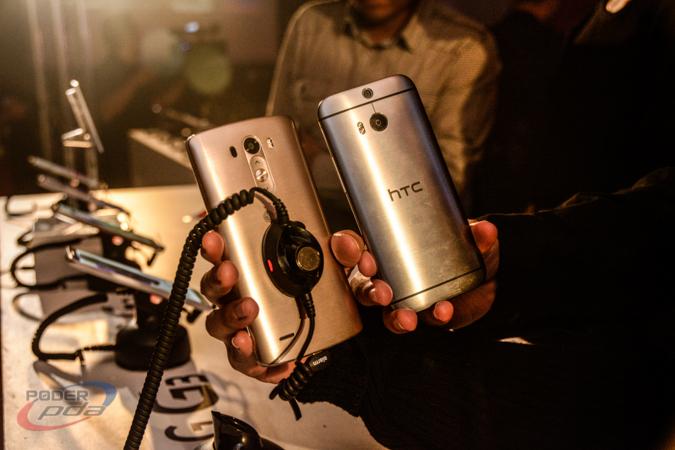 Comparación del acabado metálico del LG G3 frente al HTC One M8