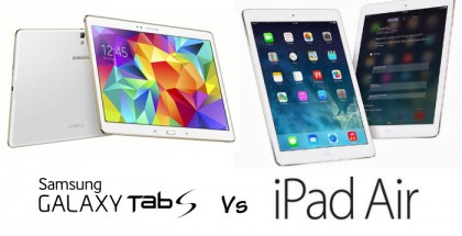 Galaxy Tab S 10,5 vs iPad air