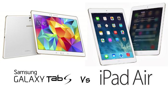 Galaxy Tab S 10,5 vs iPad air