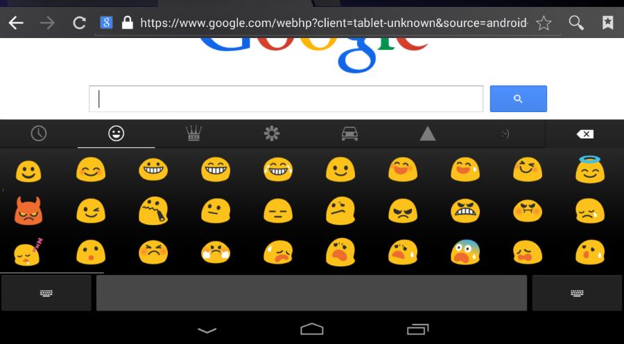 Emojis en Android KitKat.