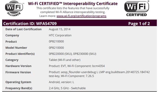 HTC-Volantis-Certificacion-WiFi