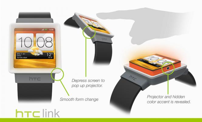 Imagen conceptual de cómo podría ser un smartwatch hecho por HTC