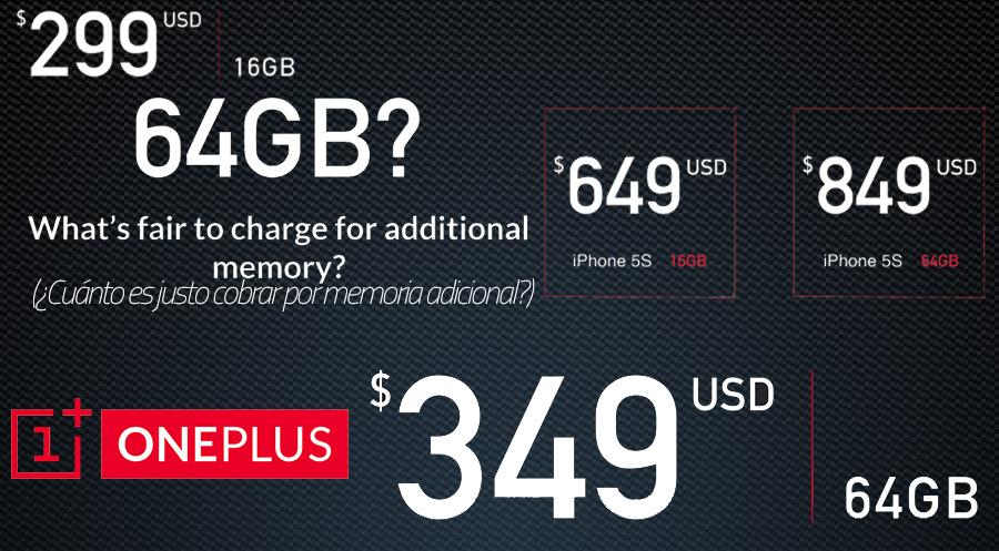 OnePlus One Comparativa