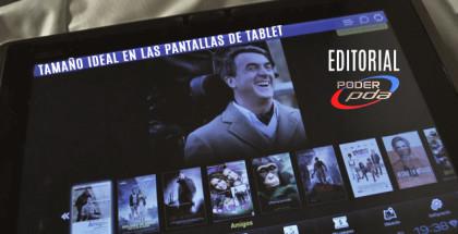 Tamaño ideal para pantallas en tablets