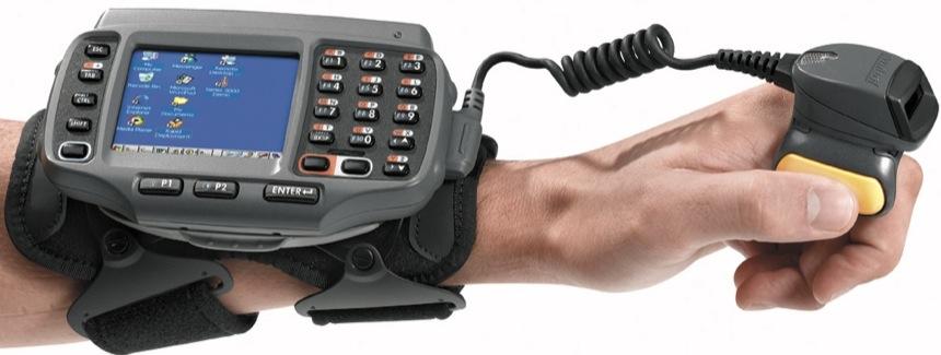 Computadora en el brazo. Symbol WT4000