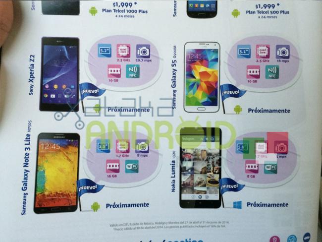 Samsung, LG, Alcatel, Nokia, Sony tendrán nuevos smartphones a la venta con Telcel