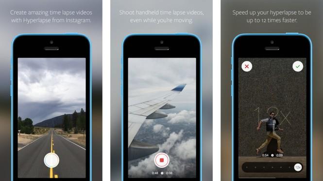 Interfaz de Hyperlapse de Instagram en iOS