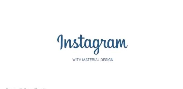instagram con material design