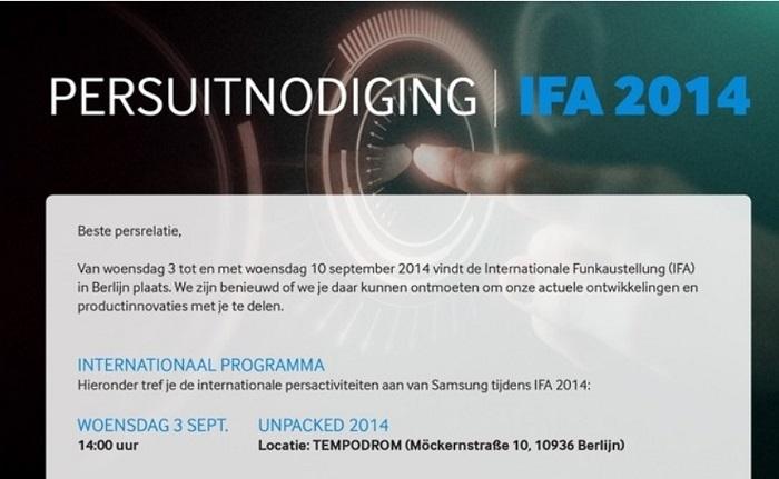 El siguiente tres de Septiembre Samsung® llevará a cabo su evento Unpacked 2014 en donde se espera sea presentada la Galaxy Note 4
