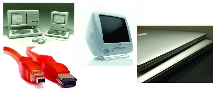 Innovaciones que Apple® ha conseguido implementar como estandares y otros que no: Interfaz Gráfica de Lisa y Macintosh. FireWire. iMac G3. Aparición y desaparición del Superdrive.